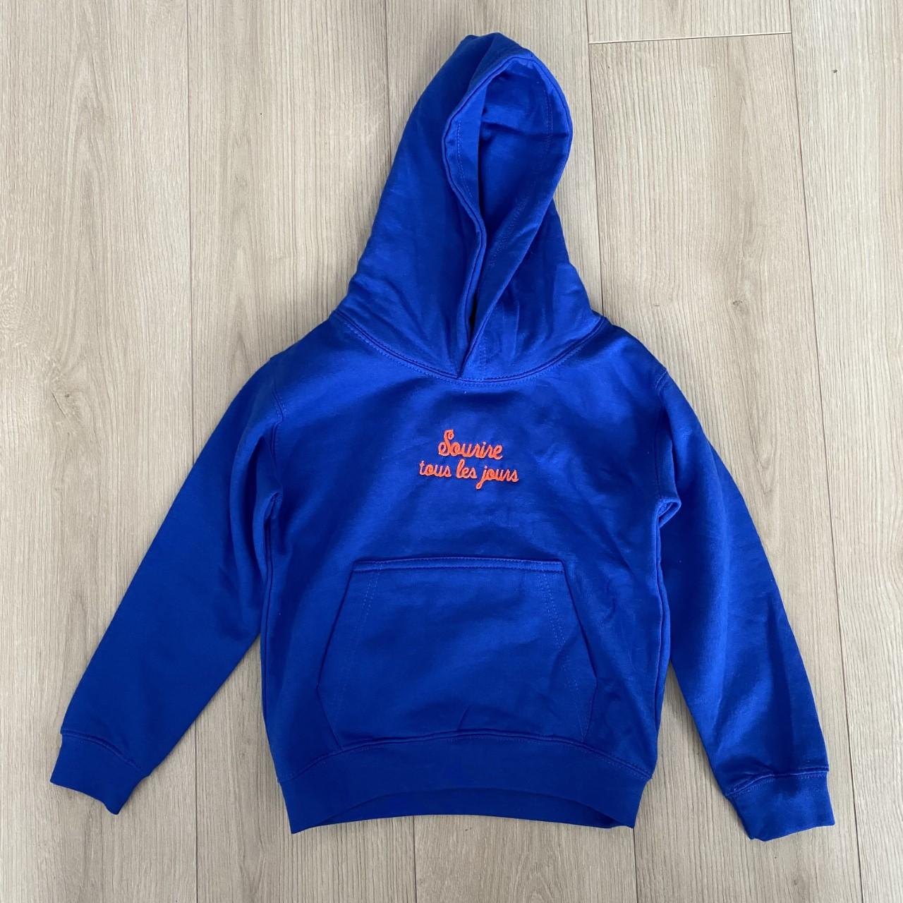 Hoody Kids Bleu royal et Orange